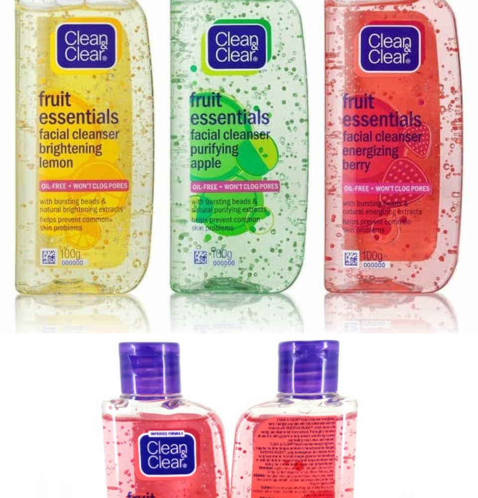 Clean & Clear Fruit Essentials Facial Cleanser Purifying Apple