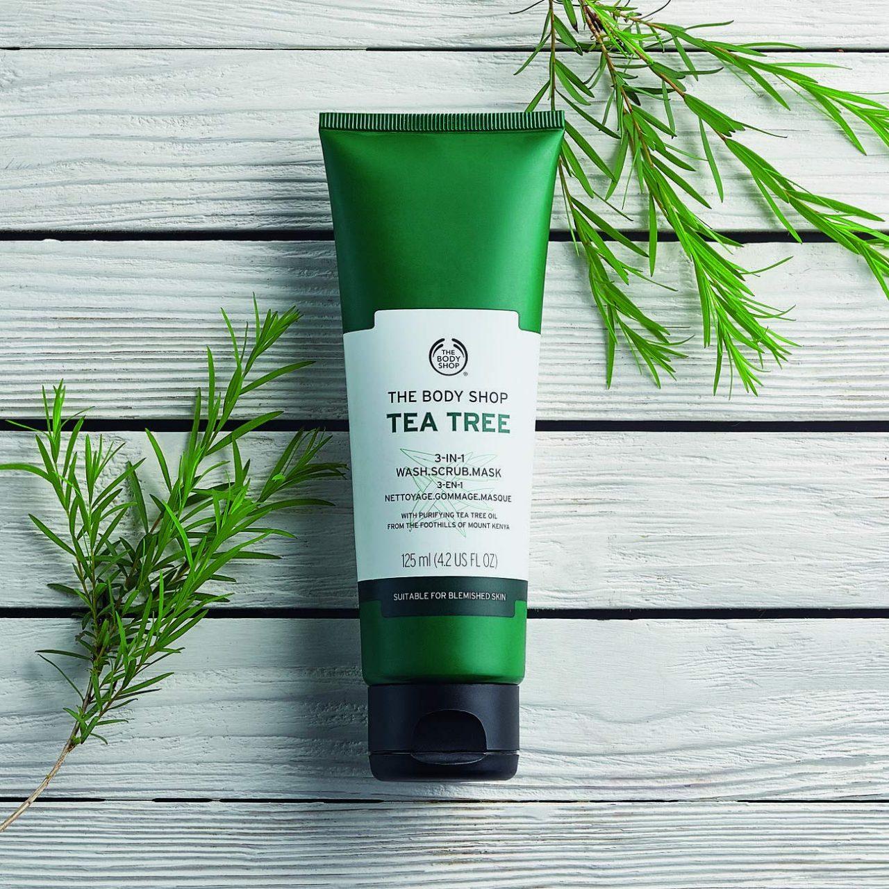 The Body Shop Tea Tree 3 In 1 Wash Scrub Mask Face Wash